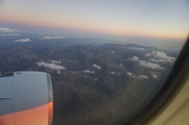 View of the Andes just before landing in Lima