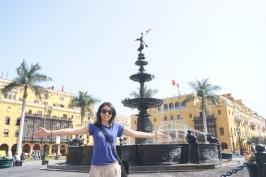 Karina at the Bronze Fountain