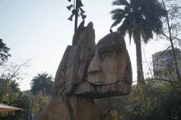 Mapuche monument @ Plaza de Armas