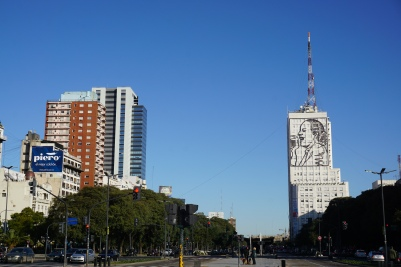 Evita viewed from northern Buenos Aires
