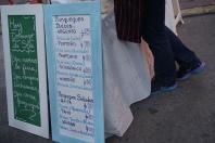 Crepe menu