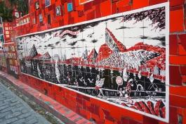 Tile art depicting Rio @ Selarón