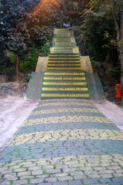 Brasil themed steps in Gloria