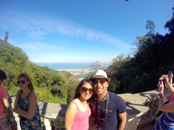 View from halfway up Corcovado