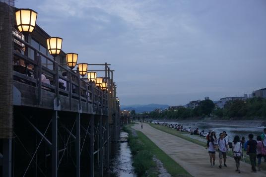 Kamogawa riverfront