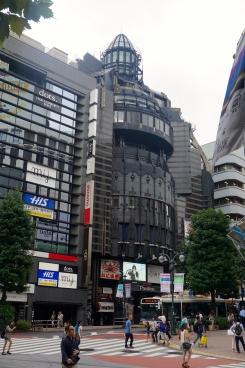 Rocket-shaped building in Shibuya