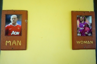 The signs for the toilets!! Haha