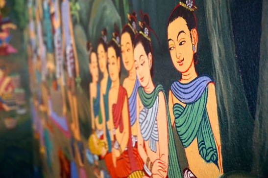 Chedi Luang wall art