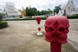 These were on the footpath as we approached Wat Rong Khun