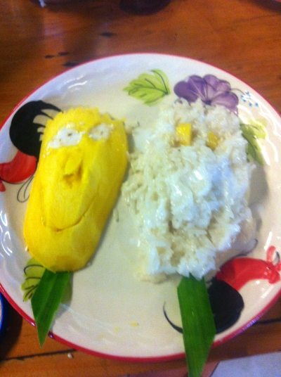 My mango & sticky rice!